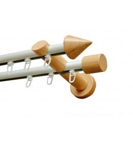 Alu-Drvo garnišna-vodilica za zavese Ø20mm Kegel - Bukva