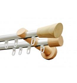 Alu-Drvo garnišna-vodilica za zavese Ø20mm Dijagonala - Bukva