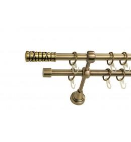 Landhouse Ø16mm Dvoredna Garnišna za zavese Moderan - Antik mesing
