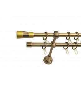 Landhouse Ø16mm Dvoredna Garnišna za zavese Trial - Antik mesing