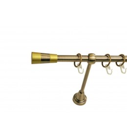 Landhouse Ø16mm  Jednoredna Garnišna za zavesu Trial - Antik mesing
