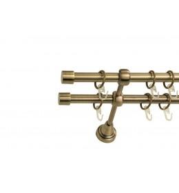 Landhouse Ø16mm Dvoredna Garnišna za zavese Kapica - Antik mesing