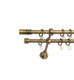 Landhouse Ø16mm Dvoredna Garnišna za zavese Cilindar - Antik mesing